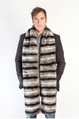 Rex chinchilla fur scarf-stole