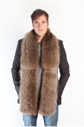 Raccoon fur scarf-stole