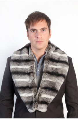 Rex Chinchilla fur collar - for men