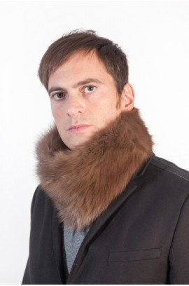 Sable fur neck warmer