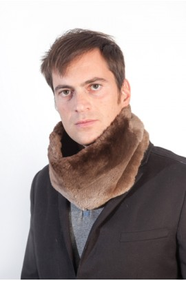 Beaver fur neck warmer for men