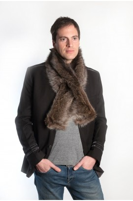 Raccoon fur scarf - unisex