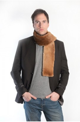 Beaver fur scarf for men