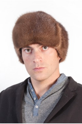 Mink fur hat for men