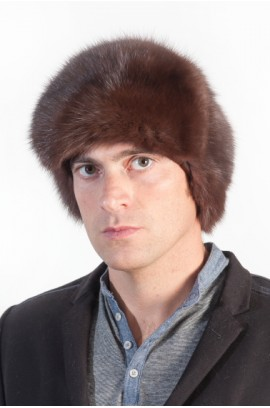 Marten fur hat for men