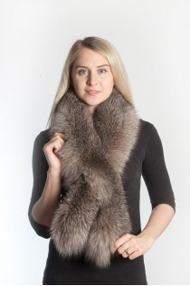 Authentic Crystal fox fur scarf