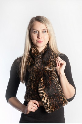 Rex fur scarf - spotted