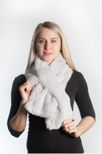 Rex fur scarf - grey