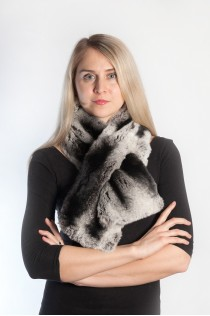 Rex chinchila fur scarf