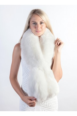 White fox fur scarf
