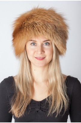 Red Golden fox fur hat