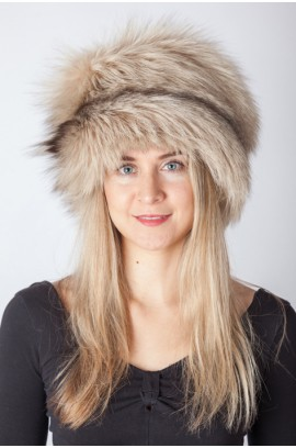 Arctic fox fur hat - Arctic cream fox