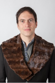 Brown mink fur collar – mink fur remnants