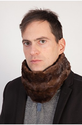 Brown mink fur neck warmer - Created with mink fur remnants - Unisex