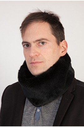 Rex rabbit fur neck warmer - Black - Unisex