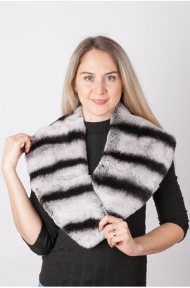 Rex rabbit fur collar