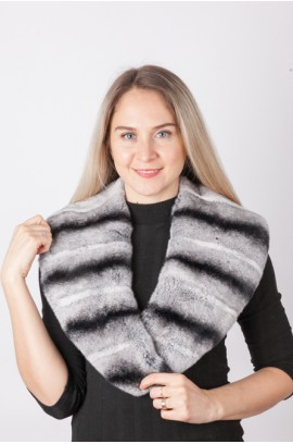 Rex-chinchilla fur collar