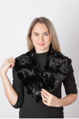 Black mink fur collar