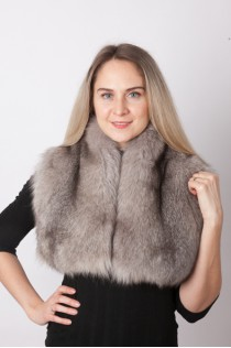 Grey fox fur collar – neck warmer