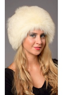 Cream  fox fur hat - Arctic Greenland
