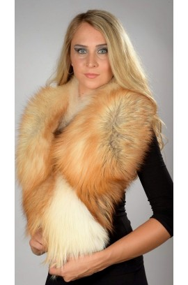 Arctic fire fox fur collar - Neck warmer