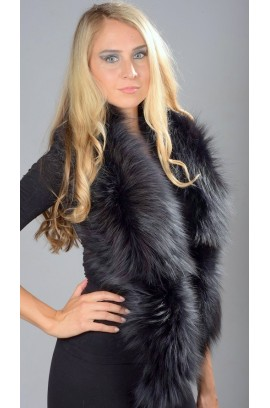 Blue fox fur collar - Neck warmer