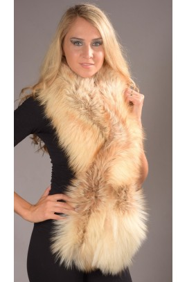 Fox fur scarf - Arctic fire
