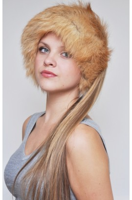 Fox fur headband - Fur collar Golden fox