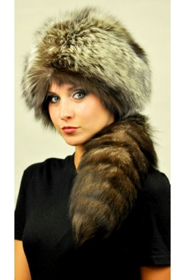 Silver Fox Fur Hat - Ushanka