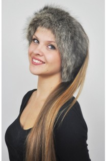 Raccoon fur headband - Fur collar
