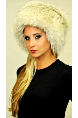 Arctic platinum fox fur hat