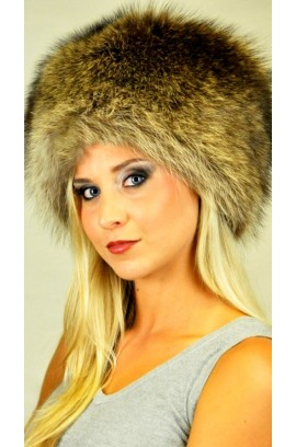 Raccoon fur hat - Classic style