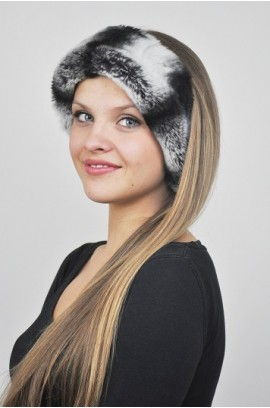 Rex-Chinchilla fur headband - Fur Collar