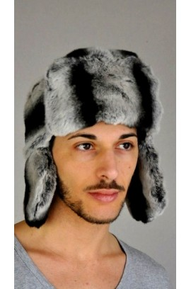 Rex Chinchilla fur hat - Russian style