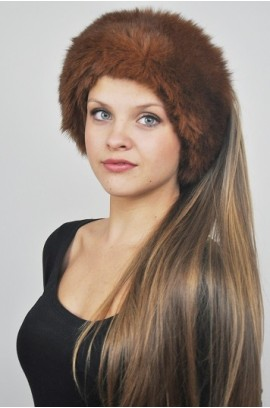Possum fur headband - Fur collar