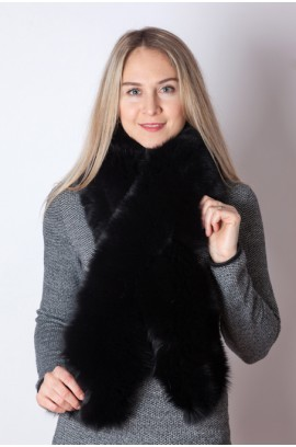 Black fox fur scarf