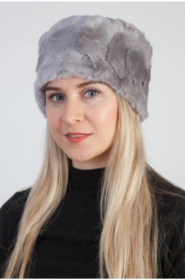 Grey mink fur hat – Created with mink fur remnants