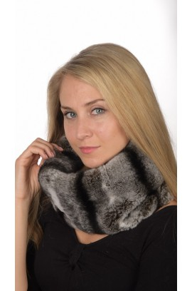 Rex Chinchilla Fur Neck Warmer