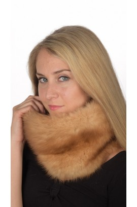 Sable Fur Neck Warmer - Gold