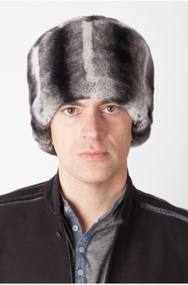 Rex chinchilla fur hat
