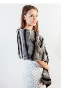 Rex-Chinchilla Fur Wrap/Scarf