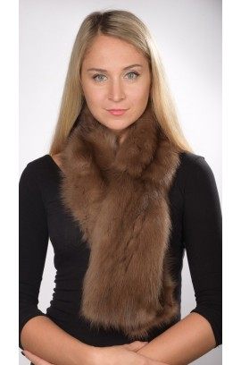 Sable fur scarf, brown, for women