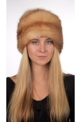 Sable fur hat unisex - Golden