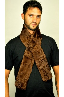 Brown Karakul Fur Scarf