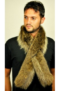 Raccoon Fur Scarf  - Double sided fur