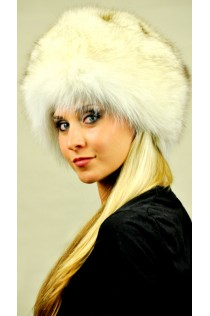 Greenland fox fur hat