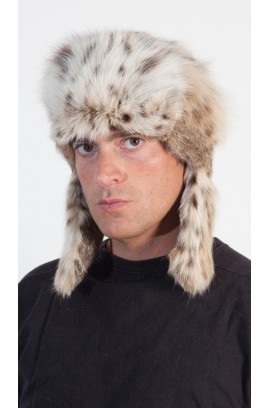 Lynx Fur Hat for men - Russian Style