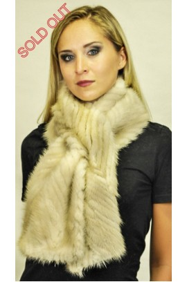 Mink fur scarf - Created with mink fur tails