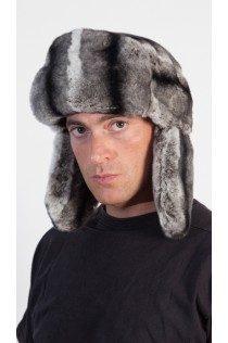 Rex Chinchilla fur Hat - Russian
