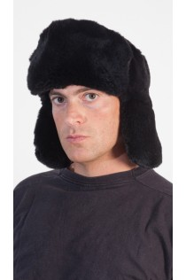 Black Rex Fur Hat